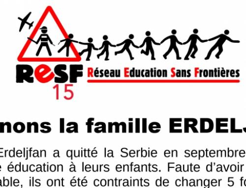 Soutenons la famille ERDELJFAN – Rassemblement de soutien le mercredi 6 octobre 2021 à 18h Cours Monthyon (devant la préfecture) à Aurillac